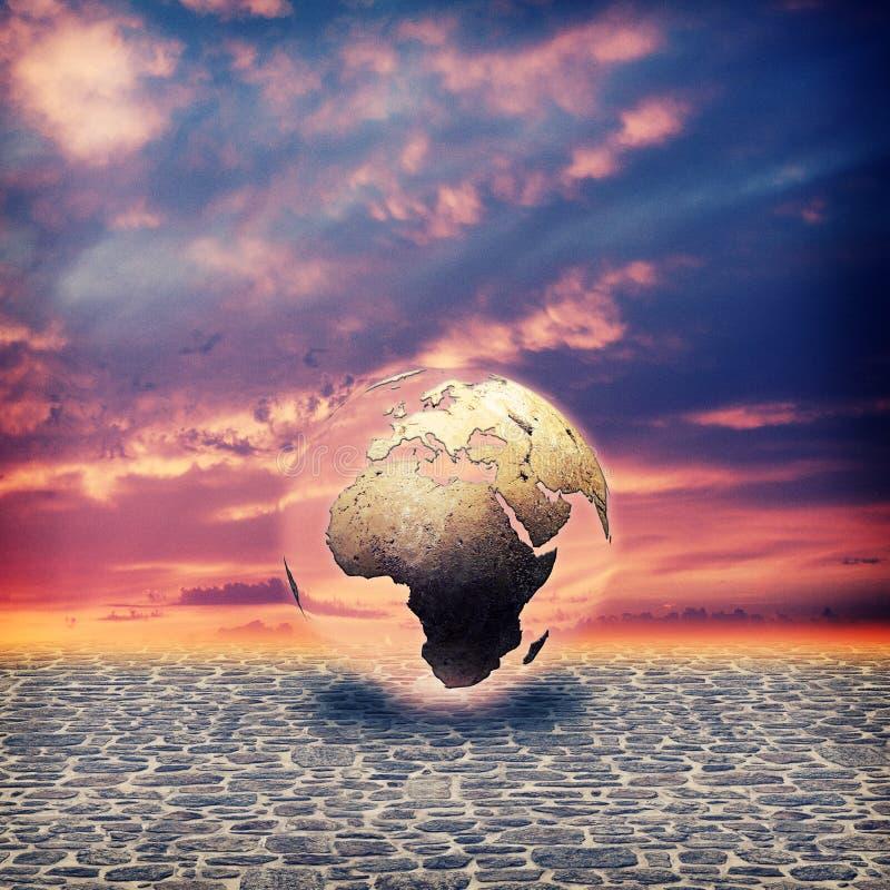 Retten Sie die Erde. lizenzfreie abbildung