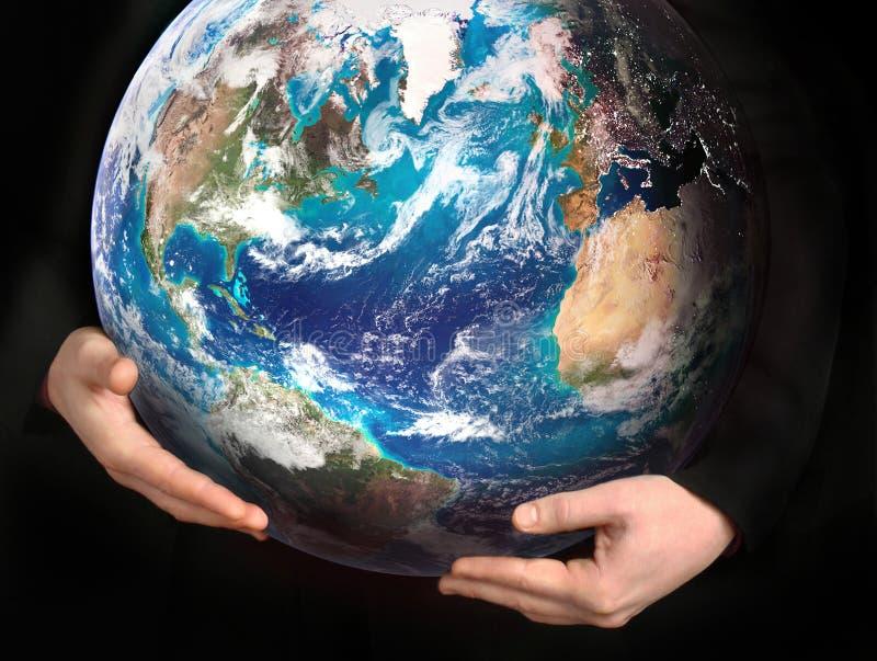 Retten Sie die Erde - Begriffsbild lizenzfreie stockfotos