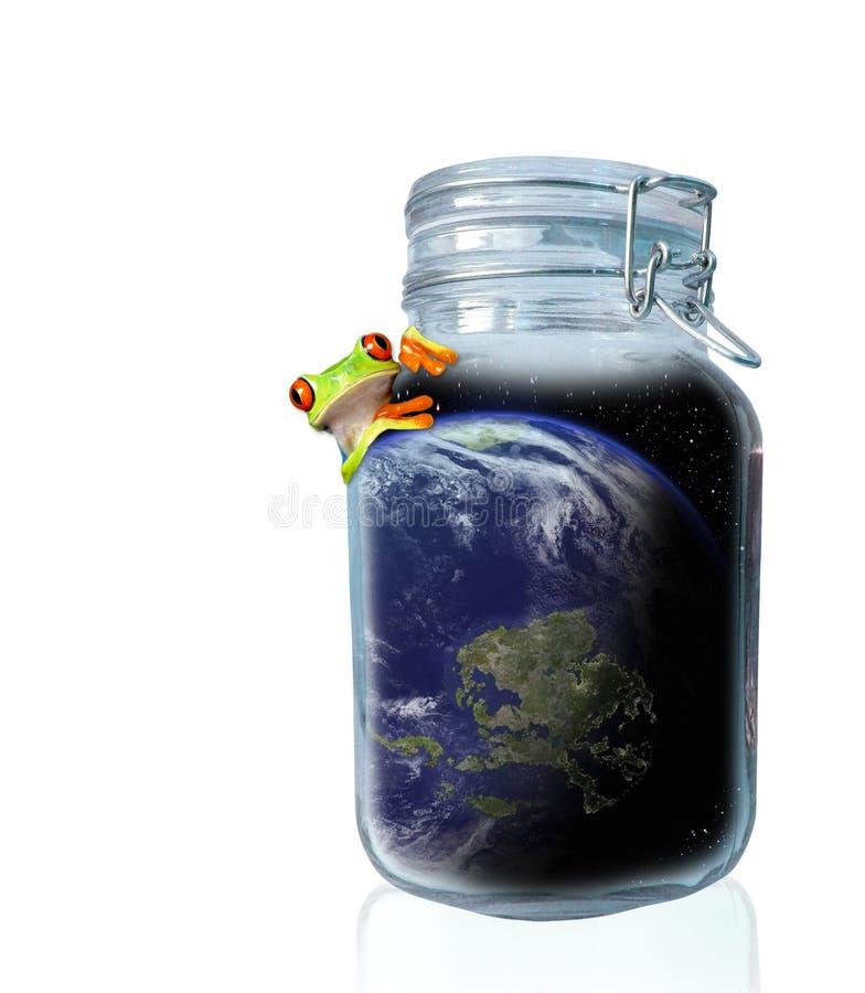 Retten Sie die Welt stockfoto