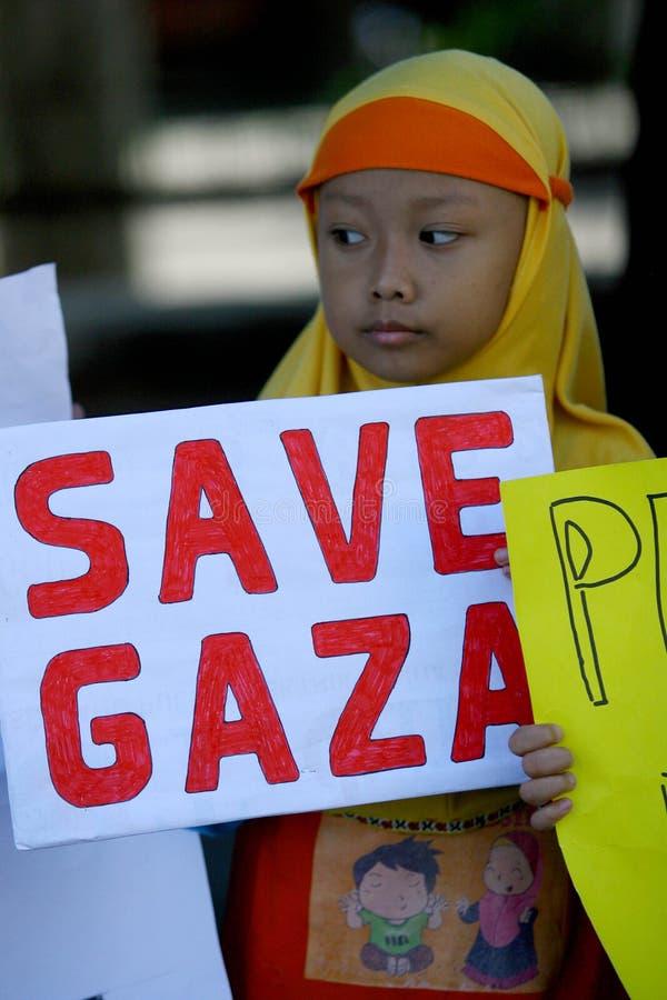 Retten Sie Gaza lizenzfreie stockfotografie