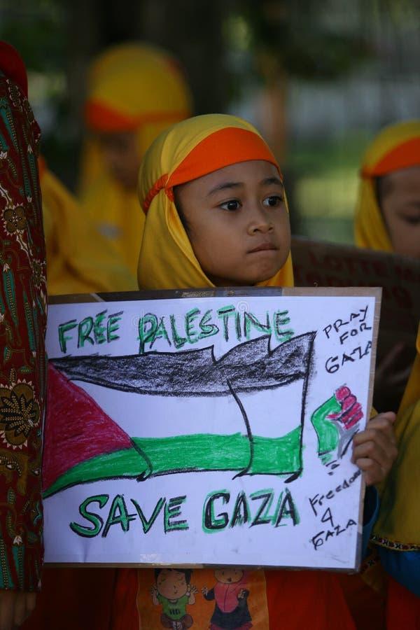 Retten Sie Gaza lizenzfreies stockbild