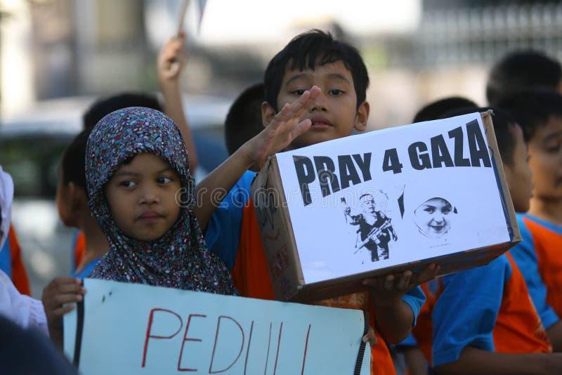 Retten Sie Gaza stockfoto