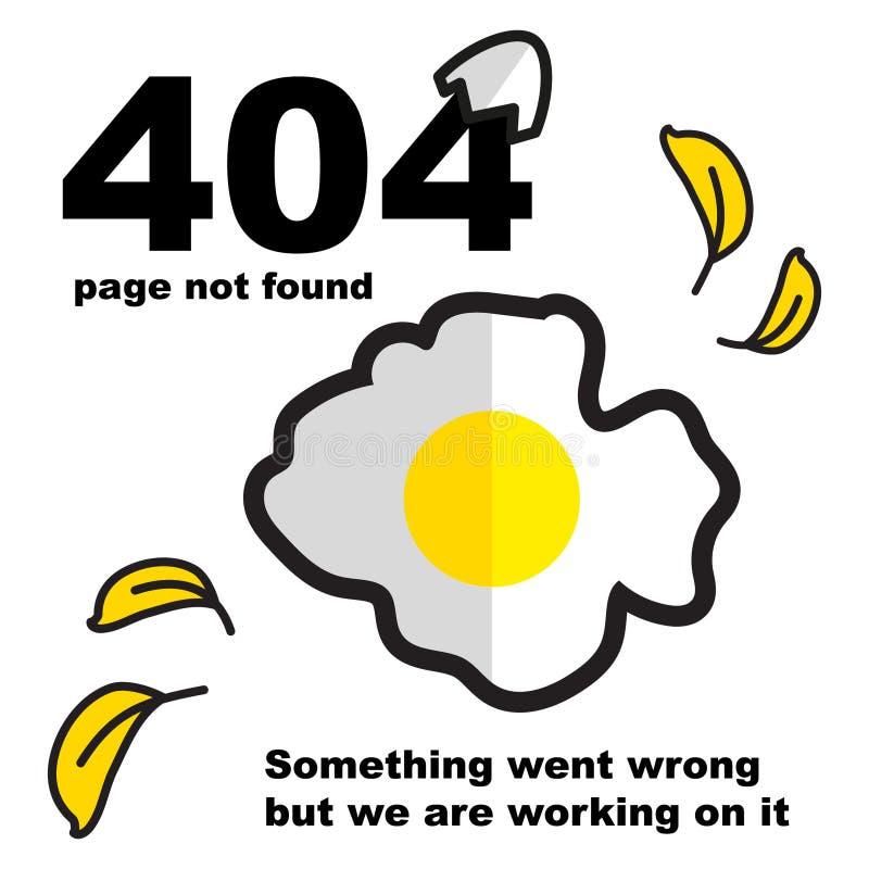 Retter auf Fehler der Standorte 404 lizenzfreie abbildung