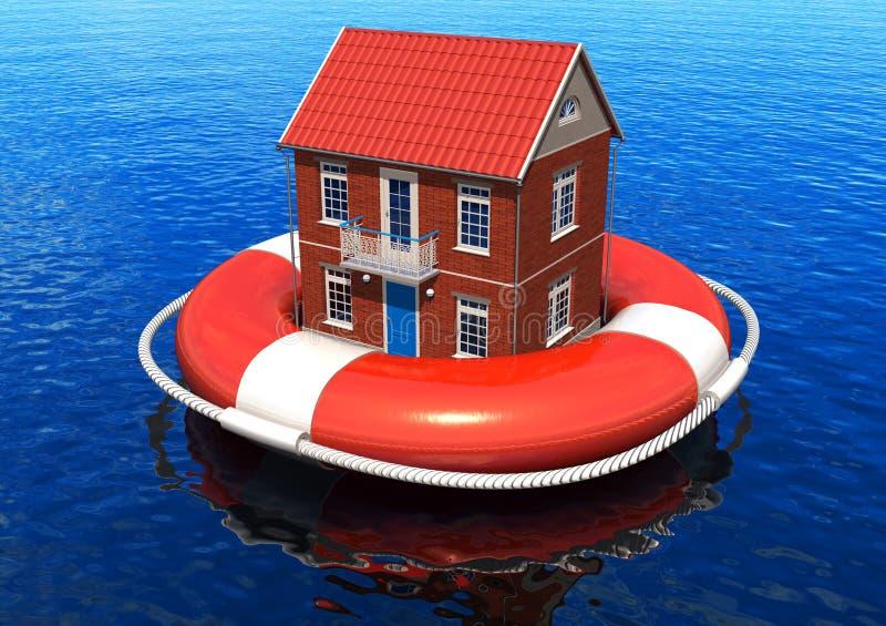 Rettung des Grundbesitzkonzeptes stock abbildung