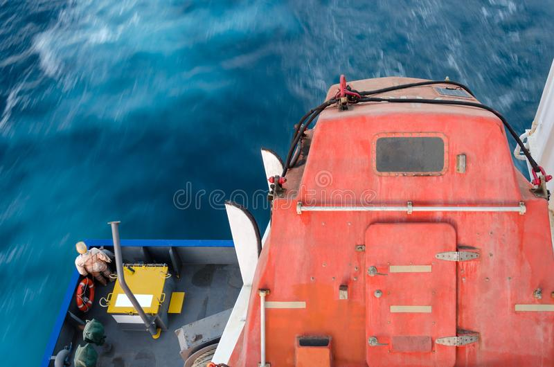 Rettungsboot des freien Falls lizenzfreies stockbild