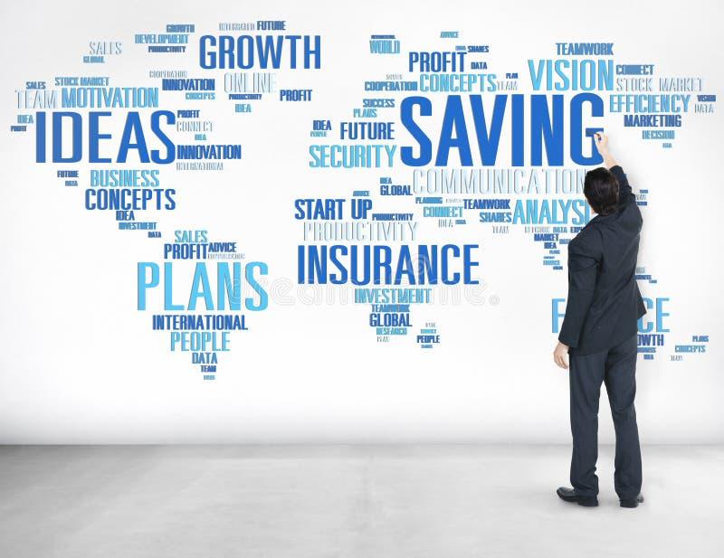 Rettungsfinanzglobales Finanzweltwirtschafts-Konzept stockfoto