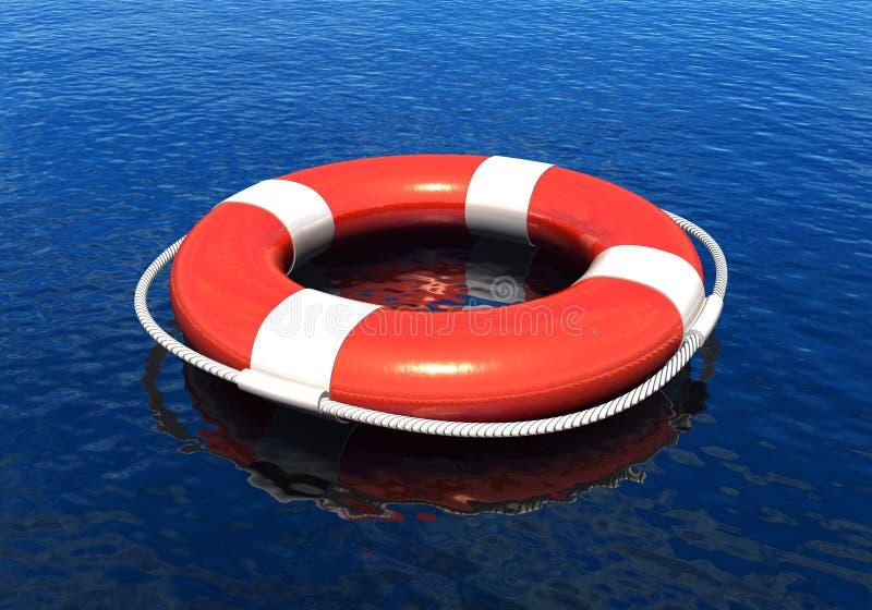 Rettungsgürtel im Wasser vektor abbildung
