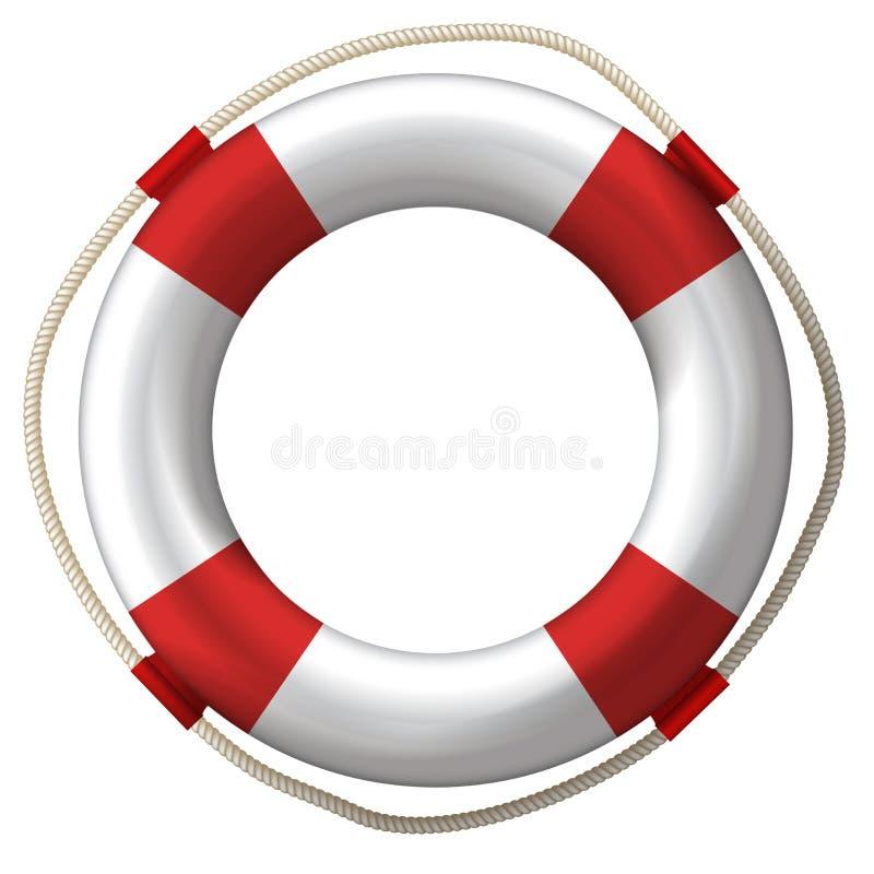 Rettungsgürtelrettungsring stock abbildung