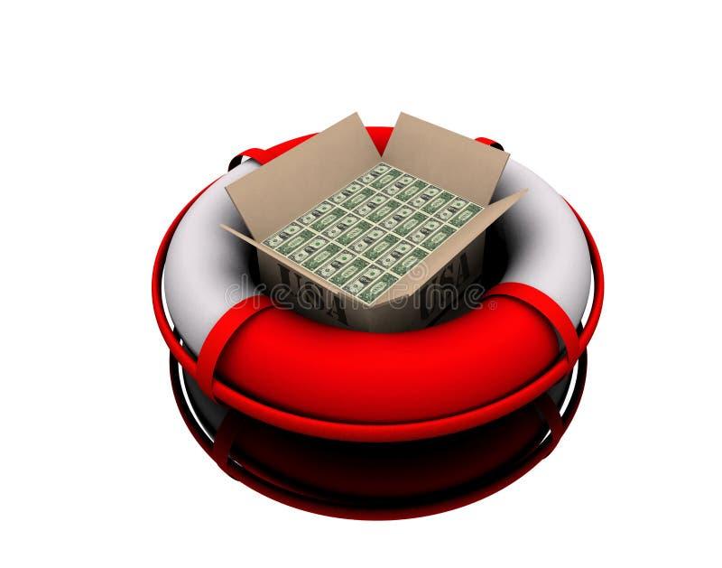 Download Rettungspaket stock de ilustración. Ilustración de dólar - 7283031