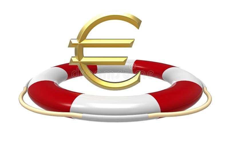 Rettungsring mit Eurozeichen stock abbildung