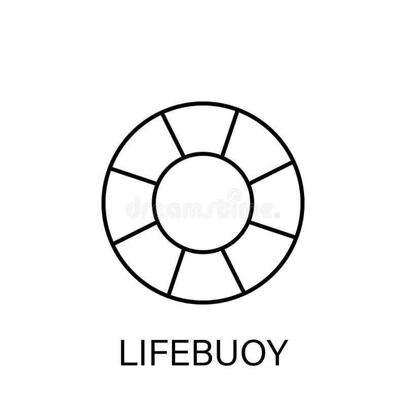 Rettungsringseeentwurfsikone Zeichen und Symbole können für Netz, Logo, mobiler App, UI, UX verwendet werden lizenzfreie abbildung