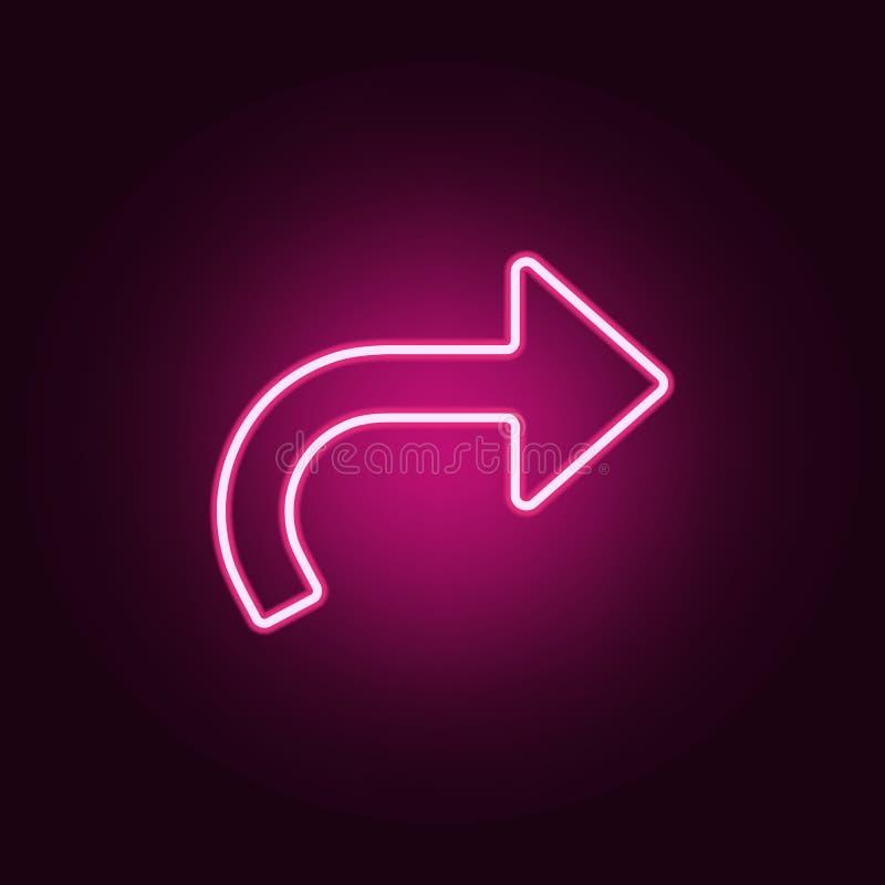 return arrow neon icon. Elements of web set. Simple icon for websites, web design, mobile app, info graphics vector illustration