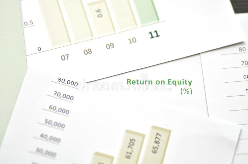 Return on Equity. Growth charts stock photos
