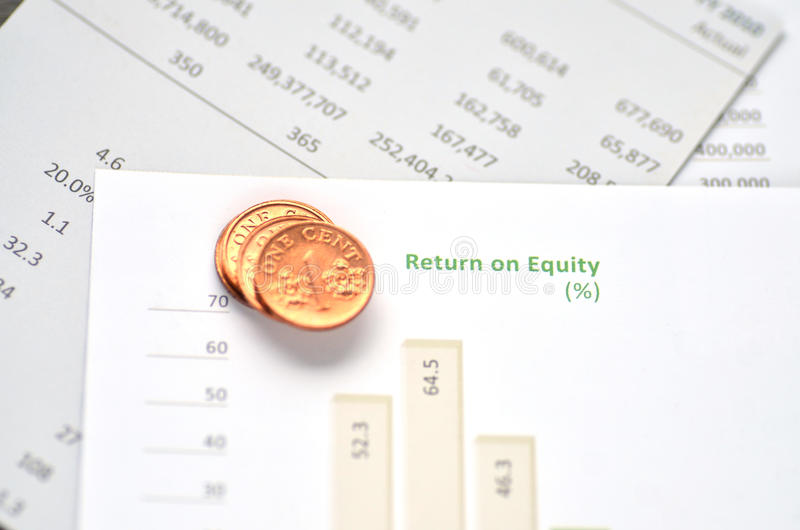 Return on Equity. Growth charts stock photography