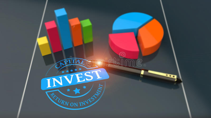 Return On Investment analysis finance concept stock images