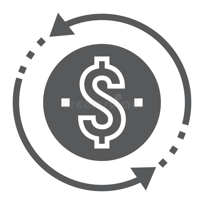 Return on investment glyph icon, development vector illustration
