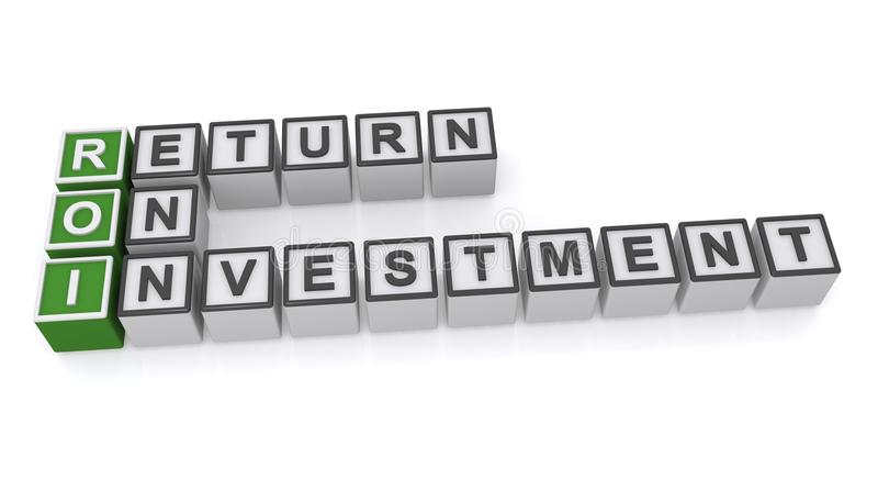 Return on investment stock illustration