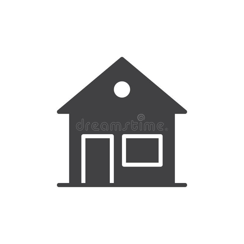 Returnera hussymbolsvektorn, det fyllda plana tecknet, den fasta pictogramen som isoleras på vit vektor illustrationer