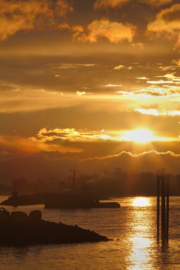 Returning to Harbor, Steveston royalty free stock photo