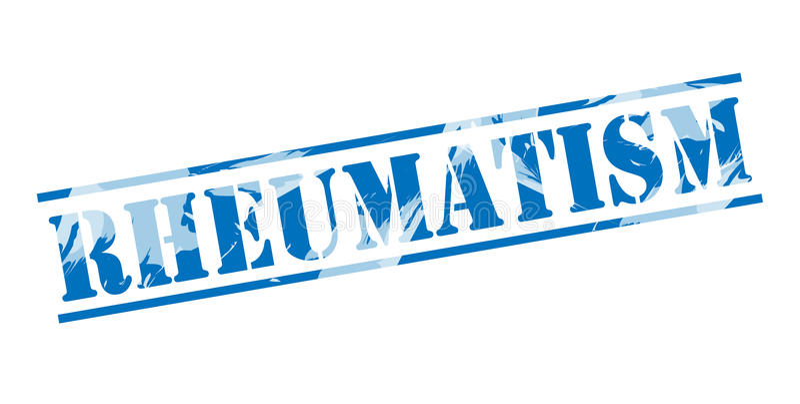 Reumatiek blauwe zegel royalty-vrije illustratie