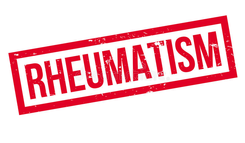 Reumatiek rubberzegel stock illustratie