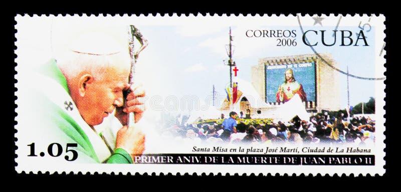 Reuna-se em Santa Clara, serie do papa John Paul II, cerca de 2006 foto de stock royalty free