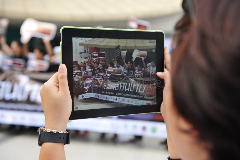 Reunião anticorrupção em Banguecoque fotografia de stock