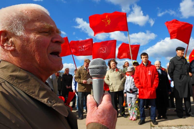 Reunião antigovernamental de comunistas do partido imagem de stock