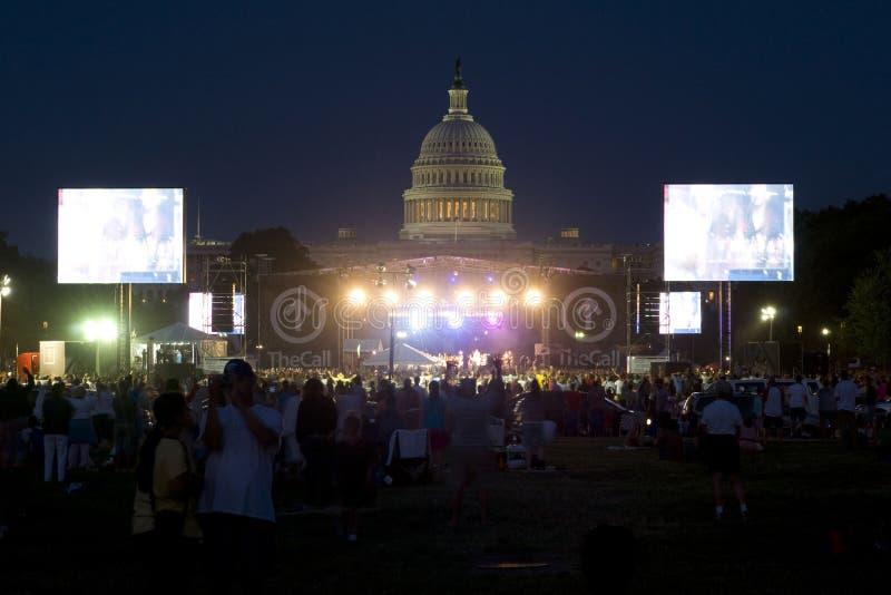 Reunião cristã de TheCall no Washington DC fotos de stock royalty free