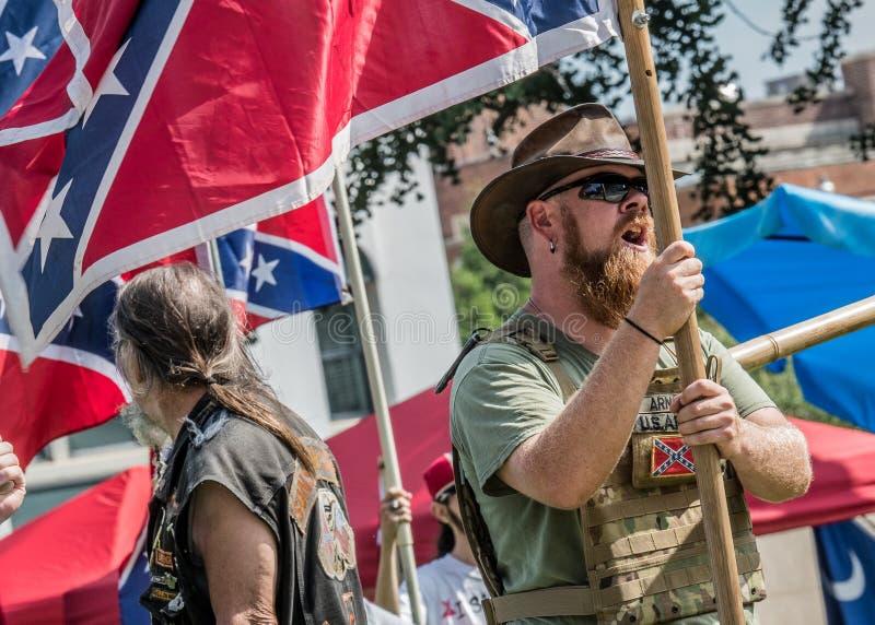 Reunião da bandeira confederada do SC foto de stock