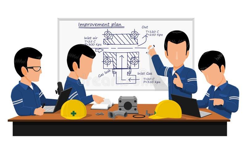 Reunião da engenharia ilustração royalty free
