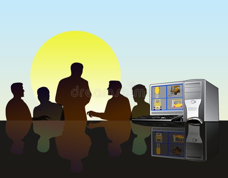 Reunião da equipe de projeto ilustração do vetor