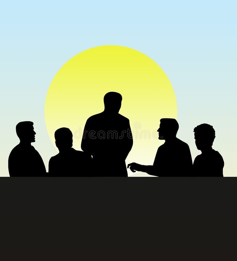 Reunião da equipe do negócio ilustração royalty free
