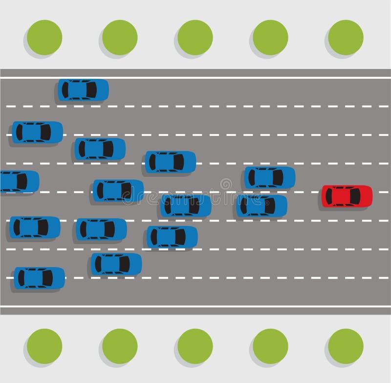 Reunião da estrada do carro ilustração royalty free