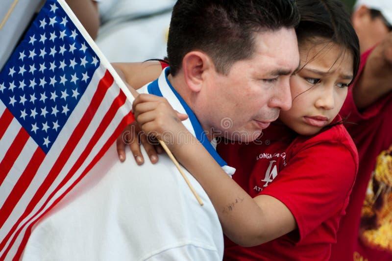 Reunião da imigração em Washington foto de stock royalty free