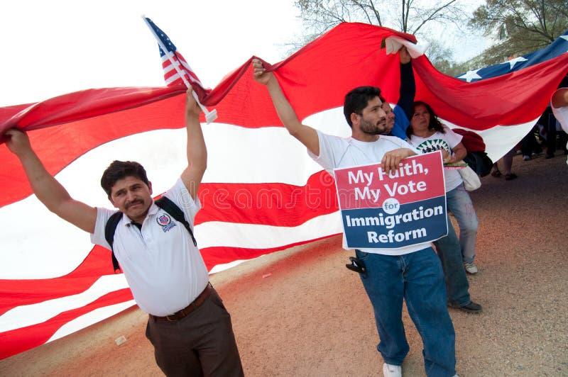 Reunião da imigração em Washington foto de stock