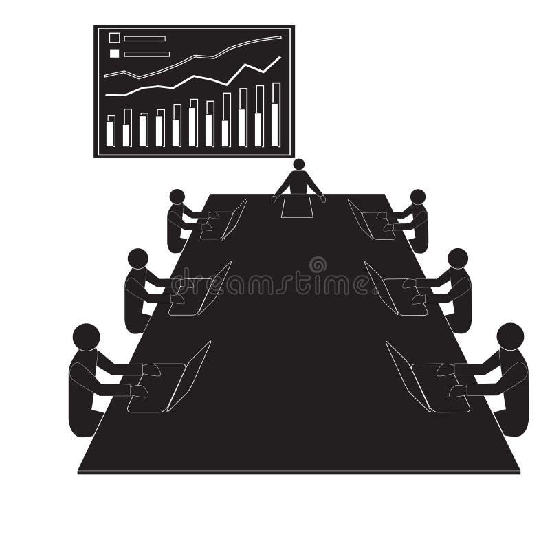 Reunião da oficina dos trabalhos de equipe, equipes dos trabalhadores de escritório ilustração royalty free