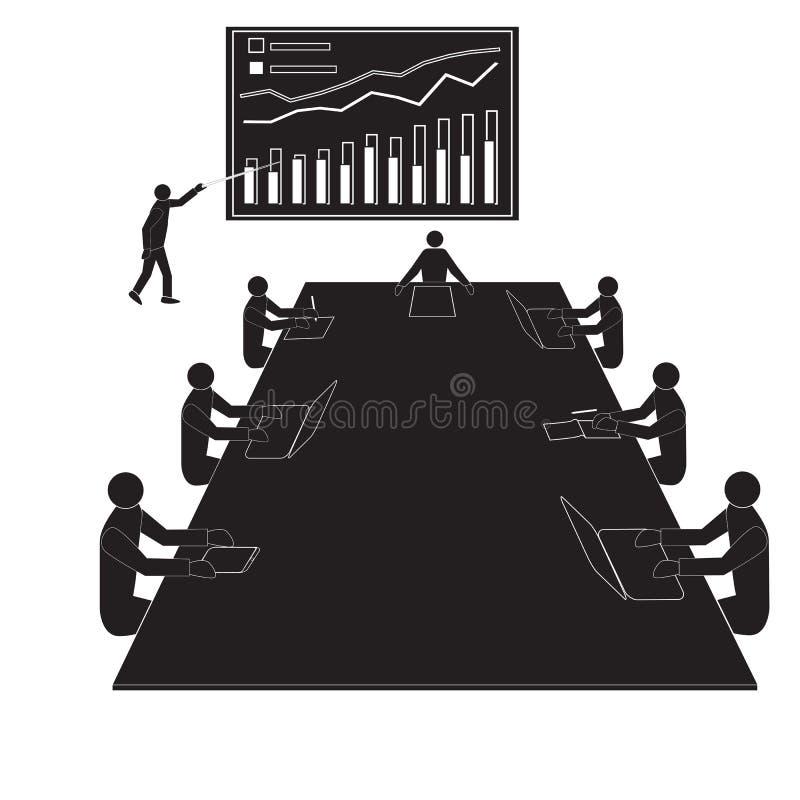Reunião da oficina dos trabalhos de equipe, equipes dos trabalhadores de escritório ilustração do vetor
