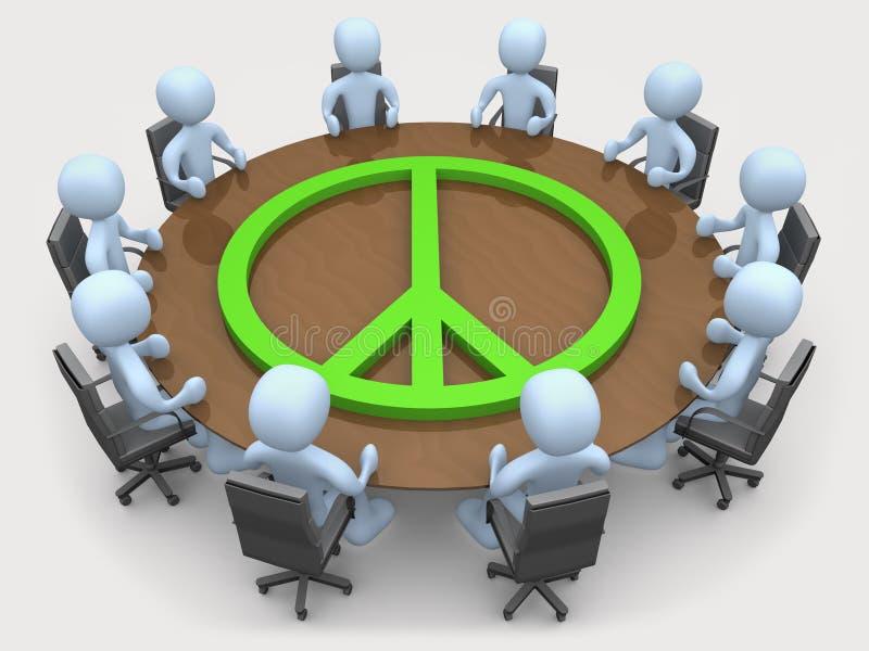 Reunião da paz ilustração royalty free