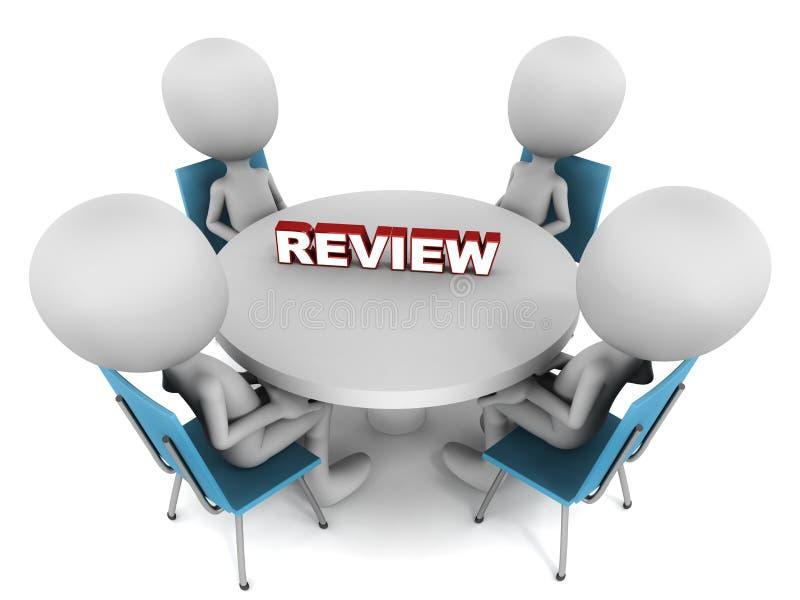 Reunião da revisão ilustração do vetor
