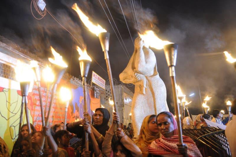 Reunião da tocha de Bhopal. fotografia de stock royalty free