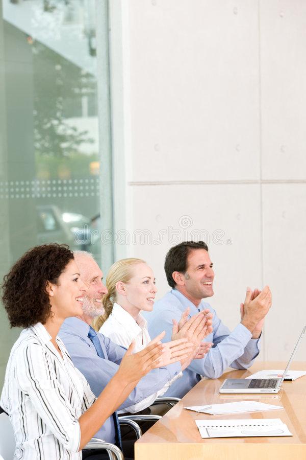 Reunião da unidade de negócio imagem de stock