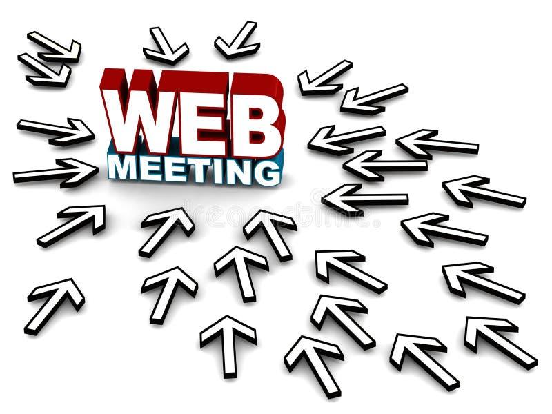 Reunião da Web ilustração royalty free