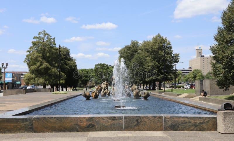 Reunião das águas por Carl Milles, St Louis fotos de stock