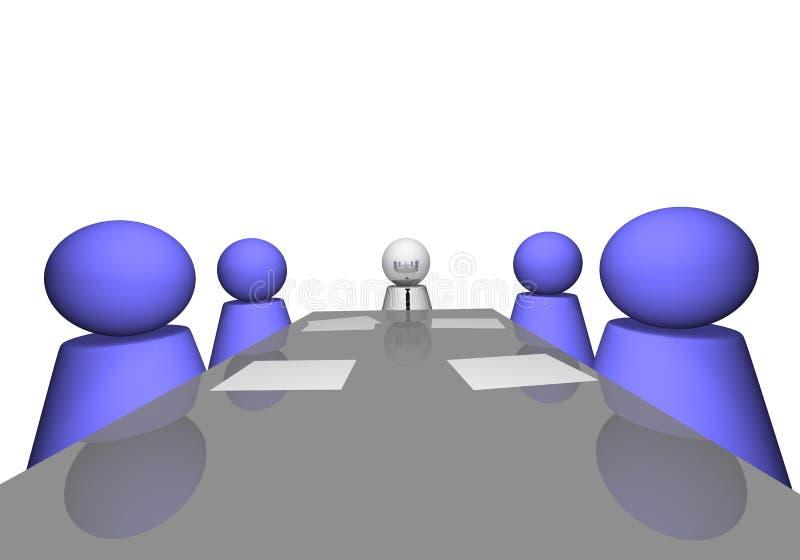Download Reunião de companhia ilustração stock. Ilustração de closeup - 12808648