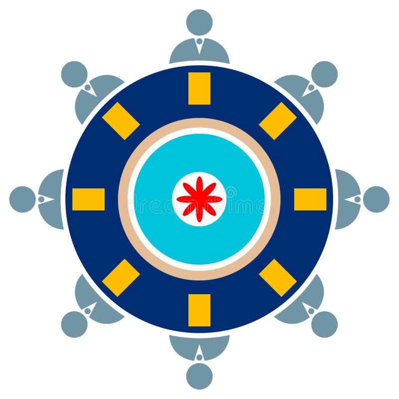 Reunião de mesa redonda ilustração do vetor