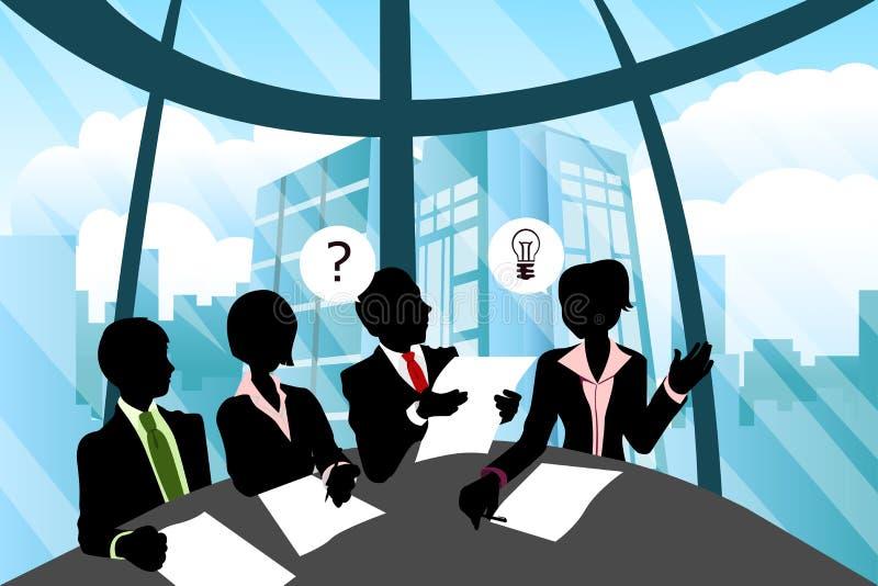 Reunião de negócio ilustração royalty free