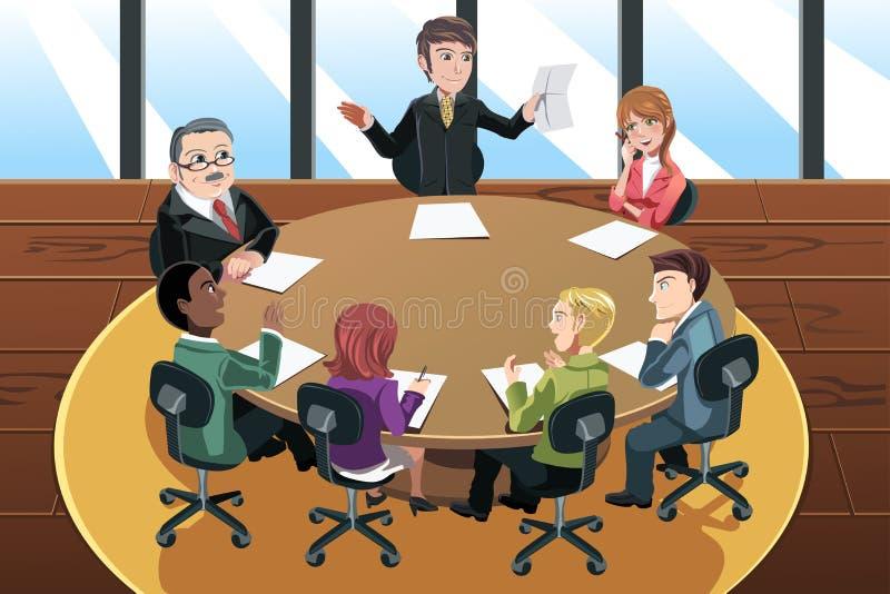 Reunião de negócio ilustração stock