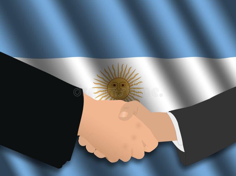 Reunião de negócio argentina ilustração do vetor