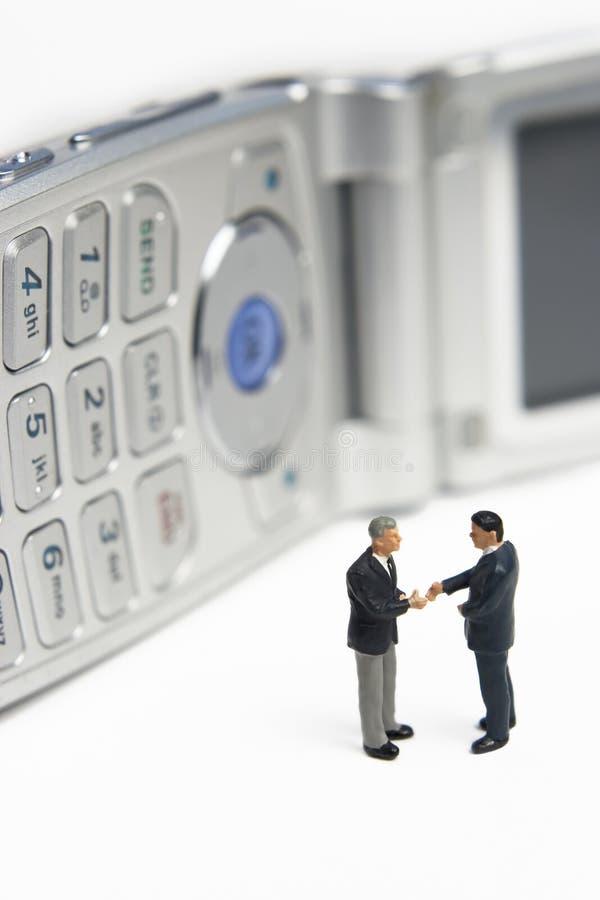 Reunião de negócio celular fotos de stock